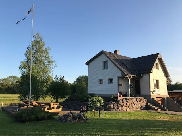 Cozy sauna house in a small village Voose