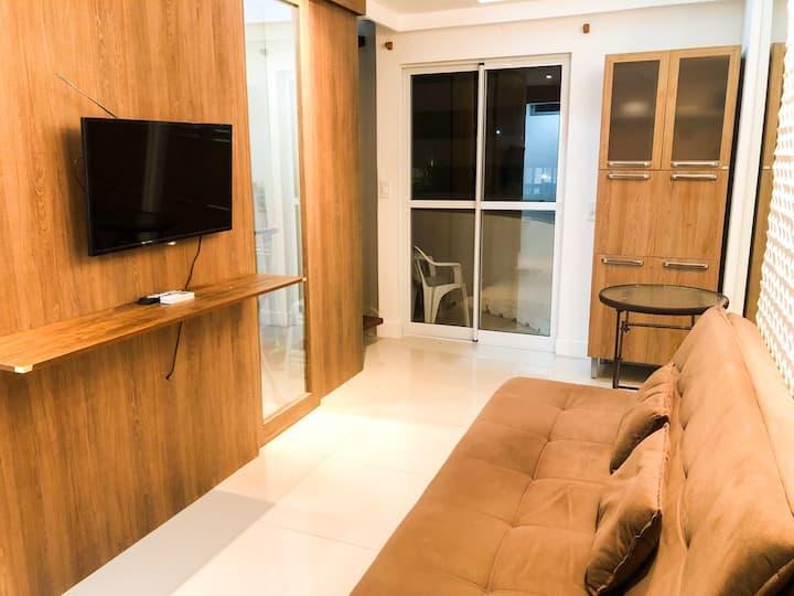 Duplex lindo e reformado à beira mar da Pajuçara