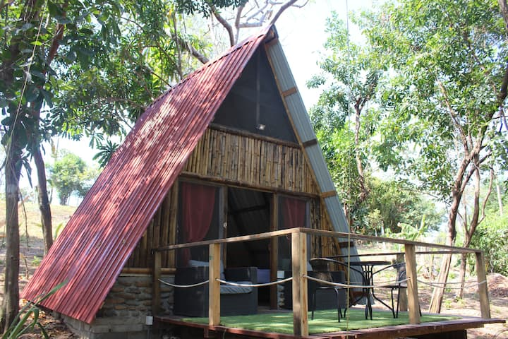 ecolodge-cabañas n 2 in a preserve island