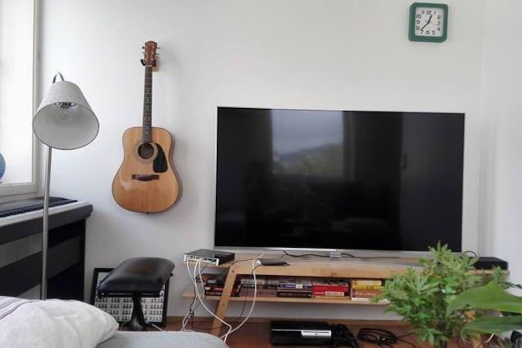 65' smart TV with Netflix, youtube and HDMI entrance