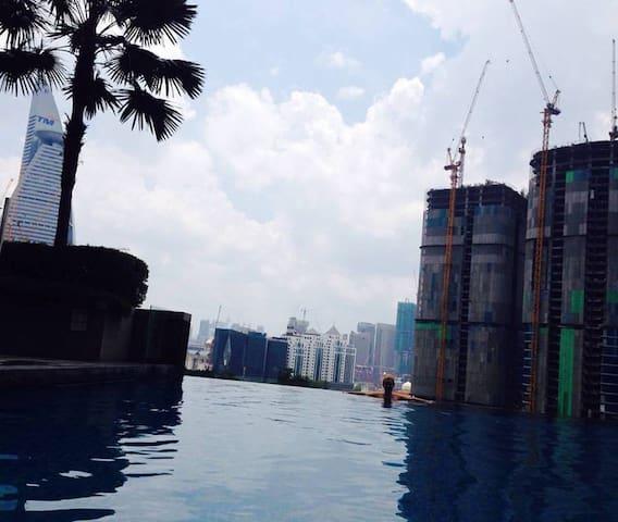 Modern room, infinity pool, 5 minutes to metro - Kuala Lumpur - Flat
