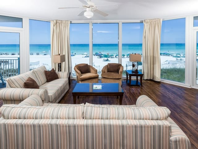 Gulf-Front Condo At Waterscape! Steps To Beach! Floor-To-Ceiling Windows! More!