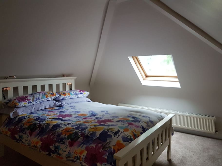 double bed in attic