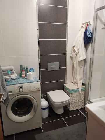 Second bathroom & washing machine