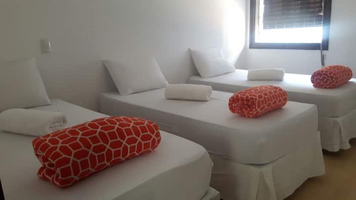 Hostel Paulista - Quarto compartilhado 3 pessoas