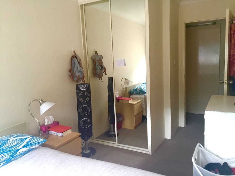 Double bedroom with wardrobe