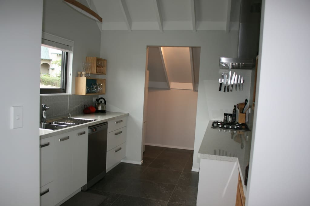 New kitchen with separate walk in pantry.