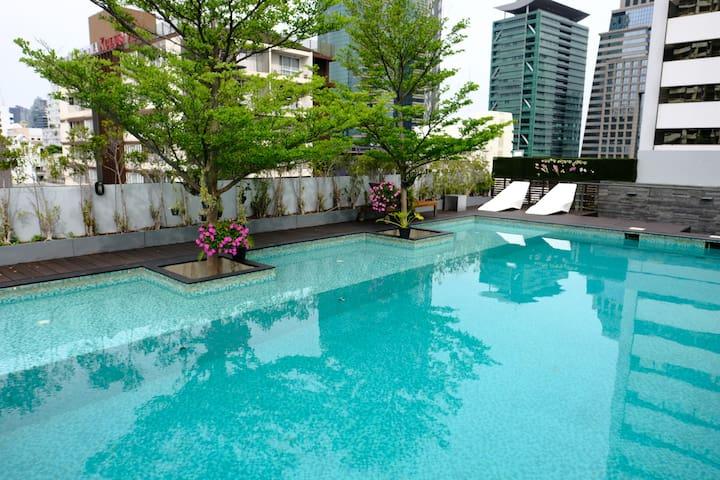 Modern City Center Residence, 2BR, 1 min BTS - กรุงเทพ - (ไม่ทราบ)