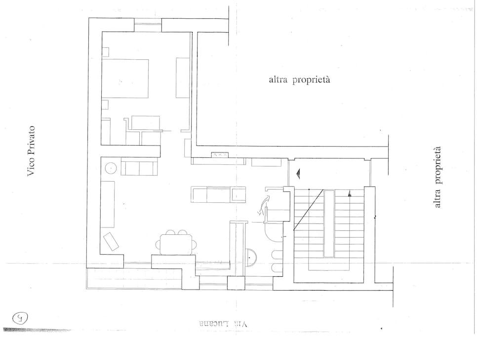 piantina di casa 900
