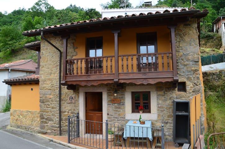 Casa de aldea con piscina en el centro de Asturias