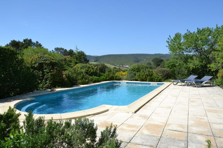 Lovely villa with a private swimming pool, beautiful property and panoramic view