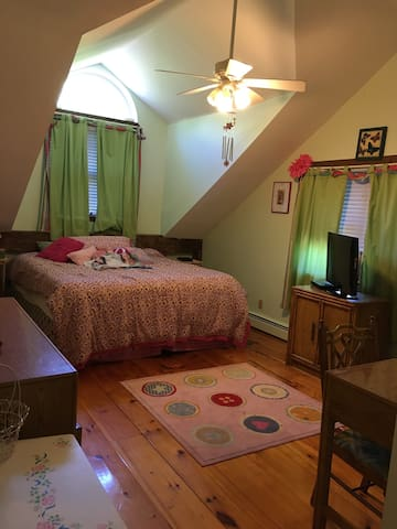 Master suite in large mountain home - Prattsville - Hus
