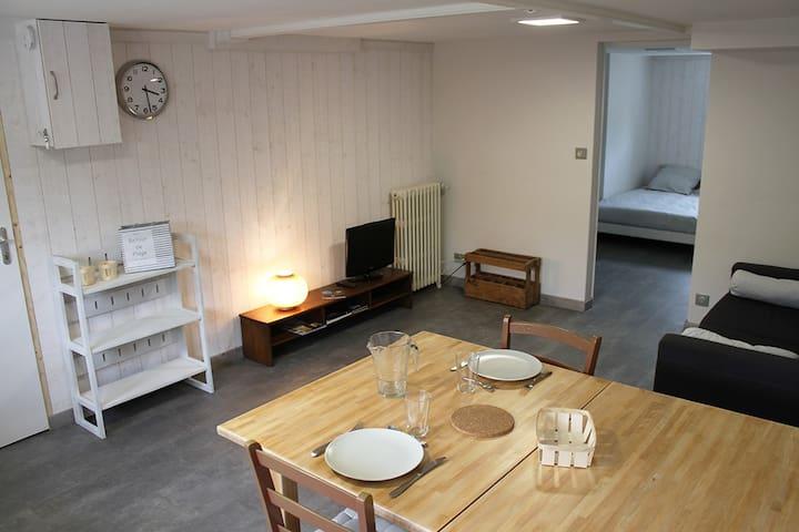 Appartement indépendant 30m² tout équipé et calme - Lagord - Apartamento