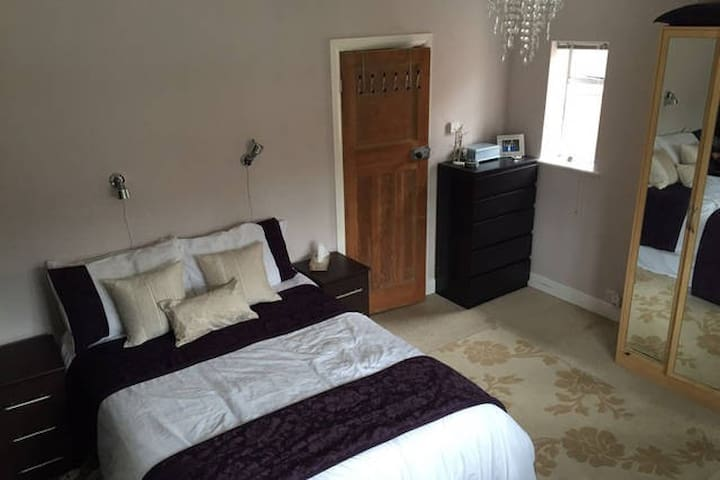 Double bed in our family home - Oxford