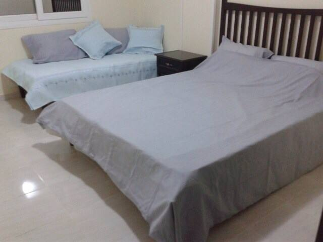 Bedroom 2.  Single and king-size double