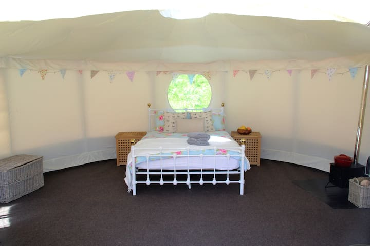 Plenty of space but now we have foam cubes that convert to roll out beds for the families with kids.