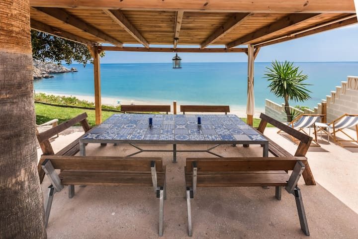 Beautiful Home Located Directly on a Secluded Beach with Terraces, Garden & Wi-Fi