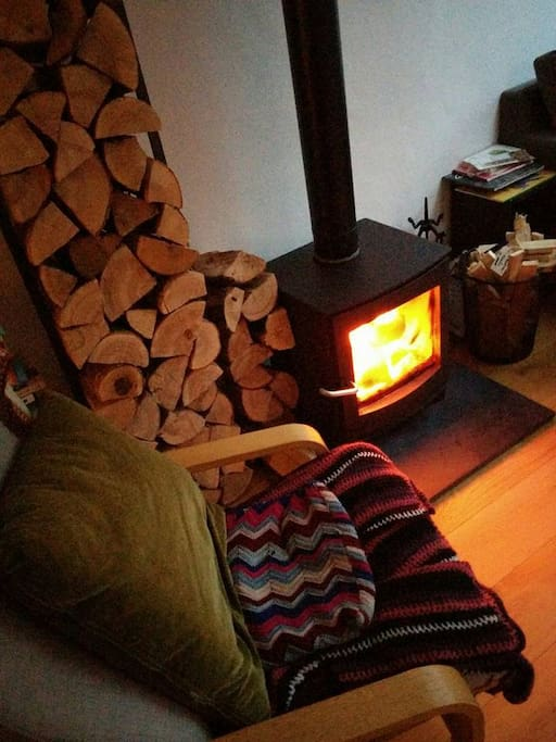 Very cosy by the fire and the whole house is warm and comfortable to rest in.