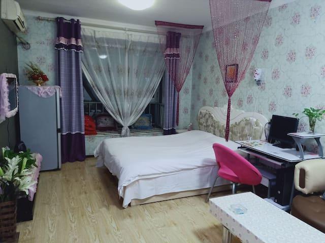 温馨舒适一室一厅一厨一卫可做饭大床房