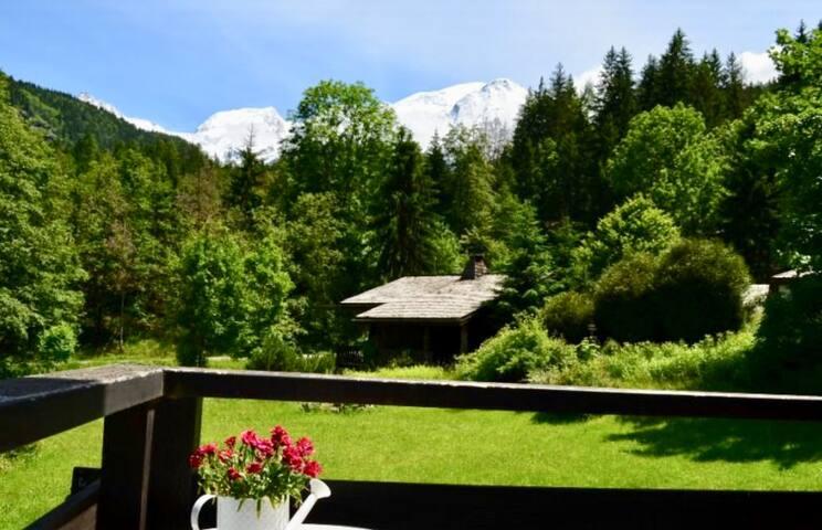 Chambre avec vue sur la chaîne du Mont-Blanc