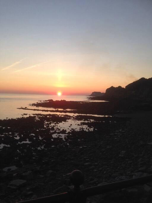 Sunset from Ventnor Beach