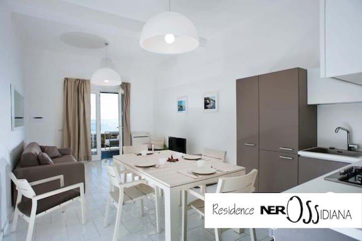 Appartamento sul mare a Lipari-NerOssidiana, apt.4