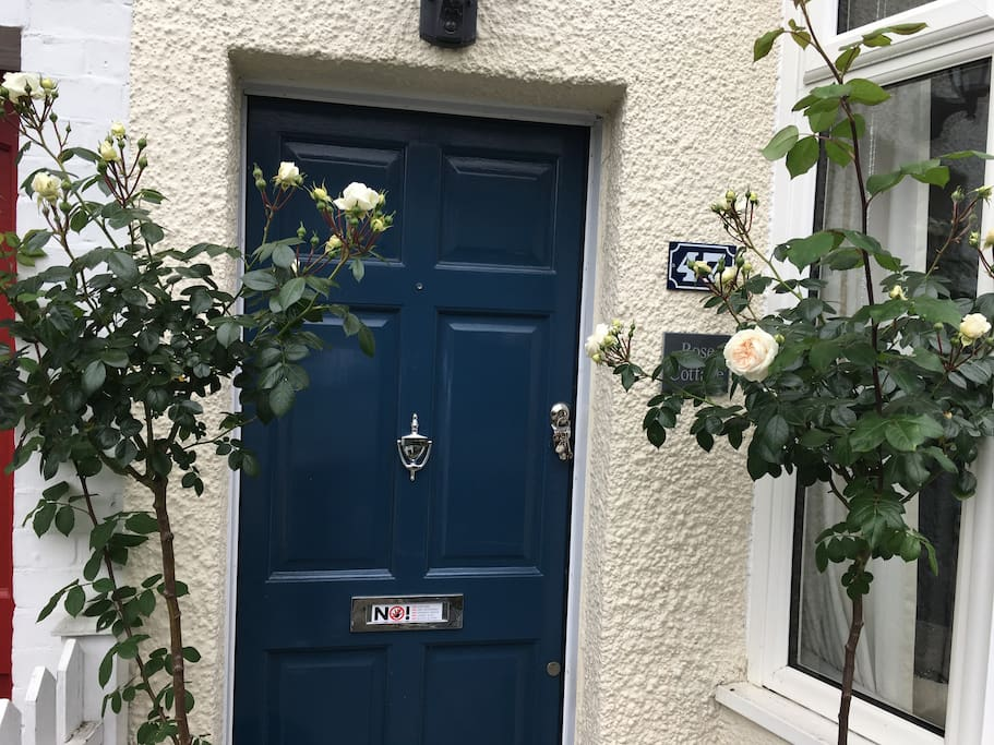 Front door: Rose Cottage