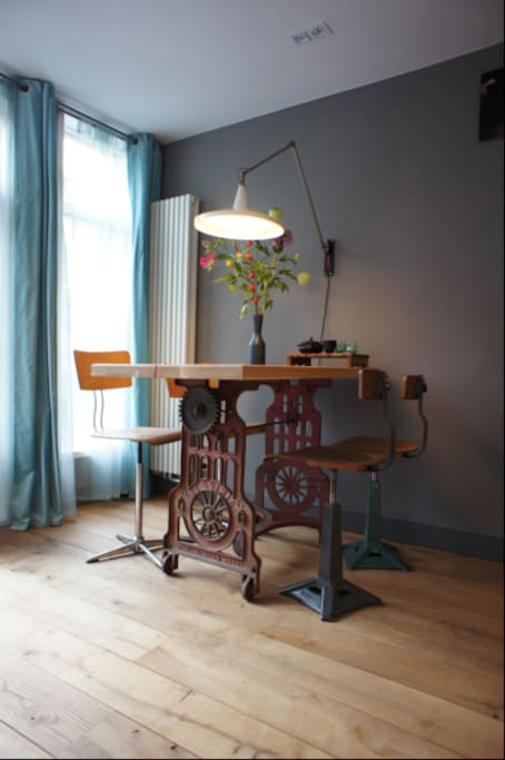 The decorative dining table