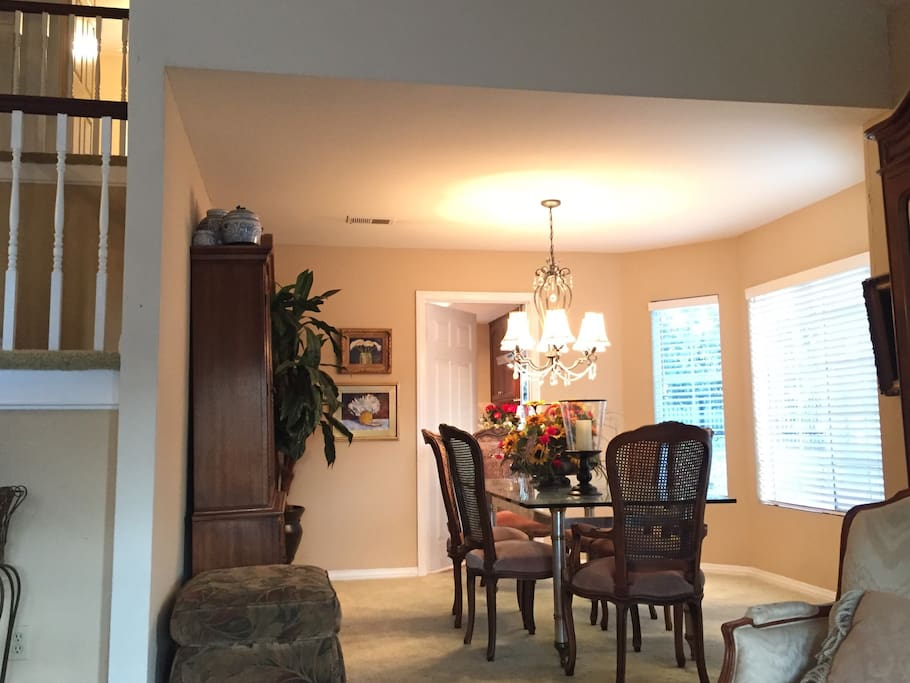 Formal dining room connected to front sitting room.