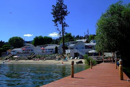 Davis Cove Lake shore Resort offers 16 cozy cabins - Peachland