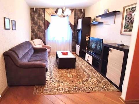 Уютная 3-комн. квартира в Полоцке для 4-8 гостей