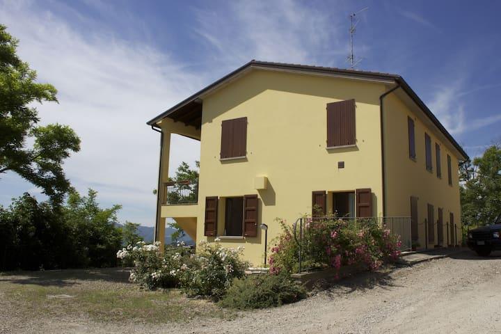 Apartment in Sassoleone with Pool, Balcony & Garden