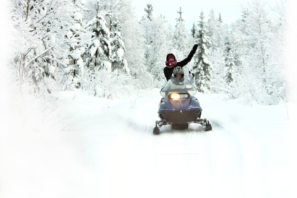 Transport by snowmobile (winter)