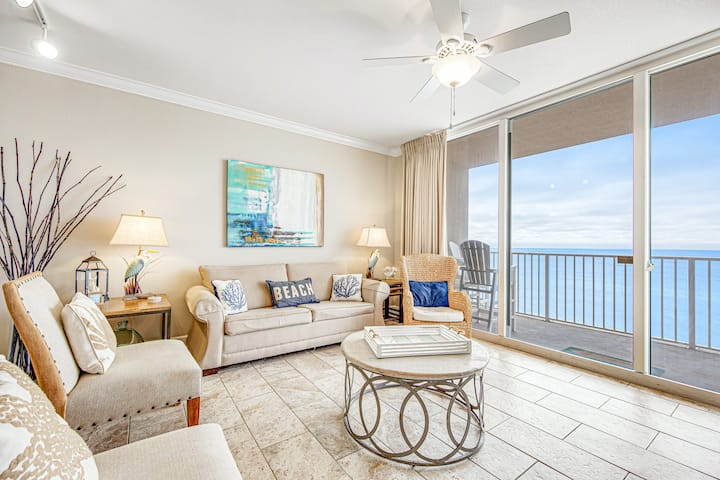 New listing! Gulf-Front Getaway w/ Shared Pools, Gym, and Beach Access