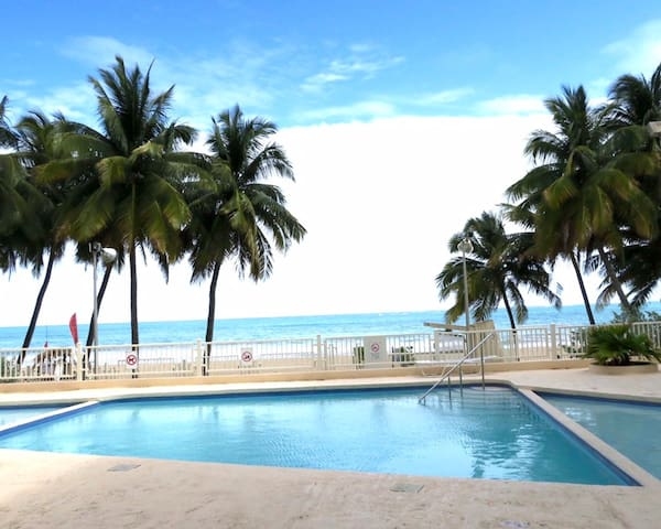 $99 Beach Apt Ocean View Sleep 3-4 Pool Park WIFI