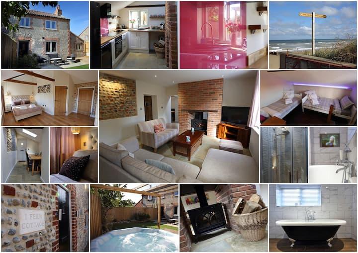 Traditional flint cottage 2 mins - beaches & pub!