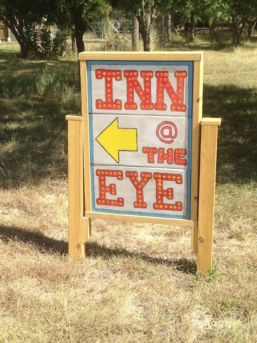 Sign for Parking Lot at the Inn