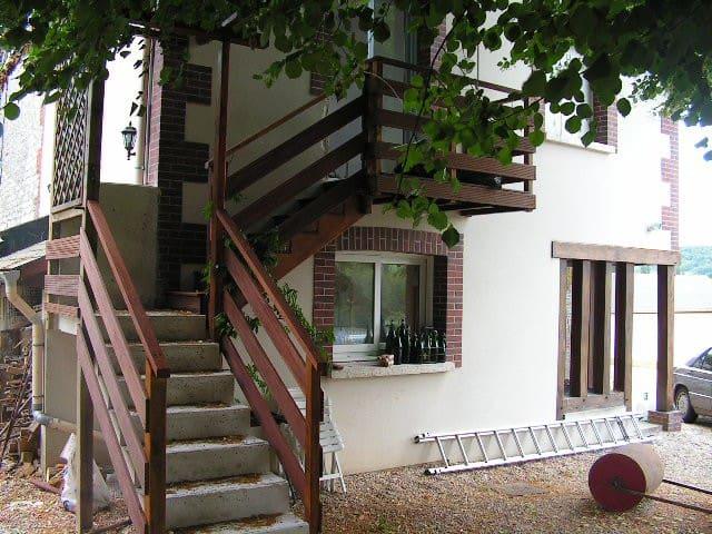 Gîte appartement dans propriété bord de Seine
