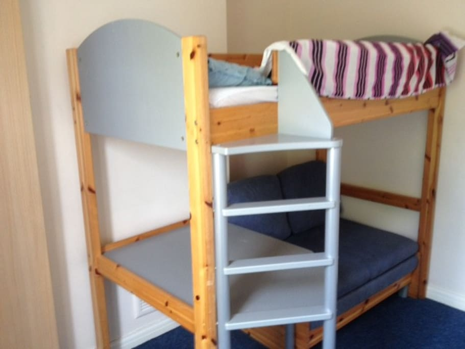bunk bed ideal for children. Settee can also be used as a bed.