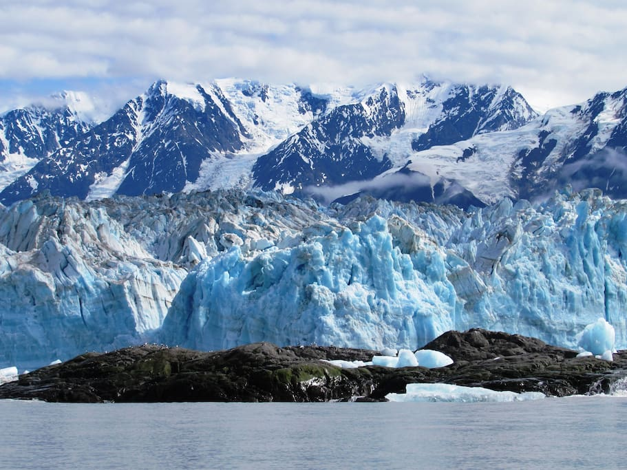 Face of the Hubbard Glacier, albeit a tiny part.