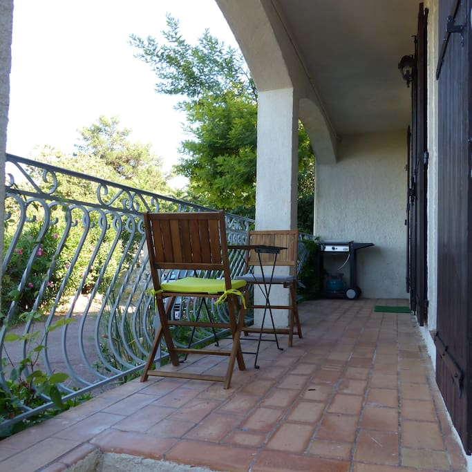 La terrasse et sa vue imprenable