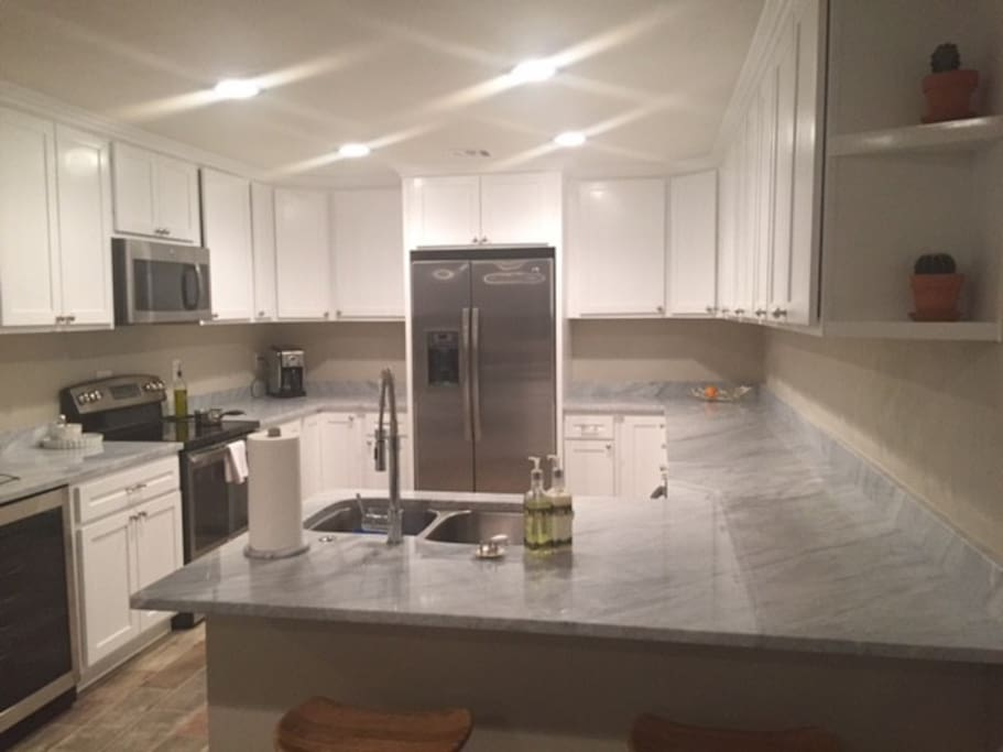 Kitchen has brand new appliances +  wine fridge