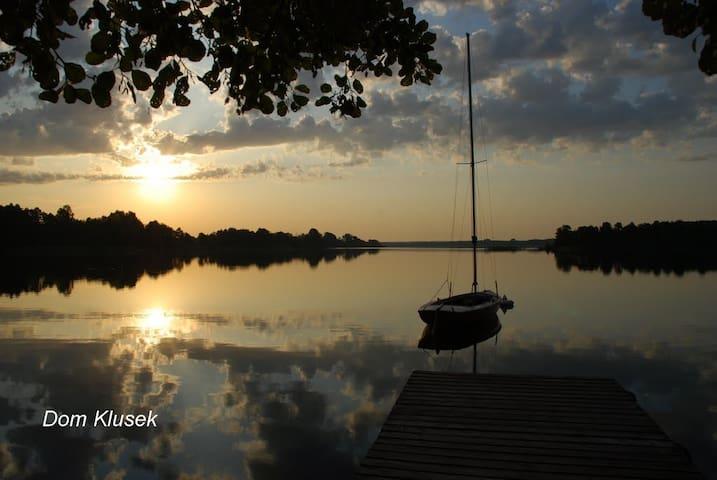 Dom letni w Klusku nad jeziorem Białym - Klusek