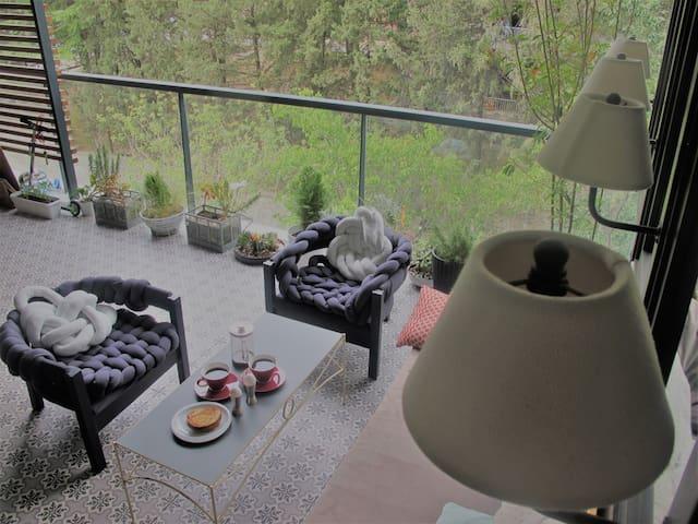 Roomy Terrace near Vake Park