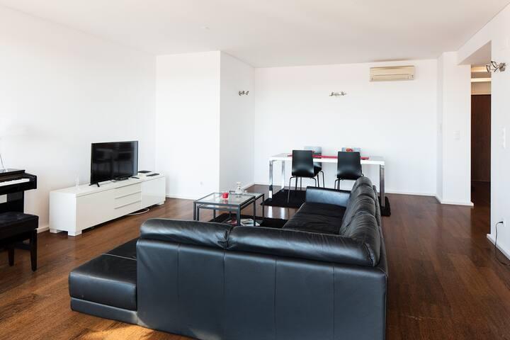 Skyscraper apartment in Lisbon heated indoor pool