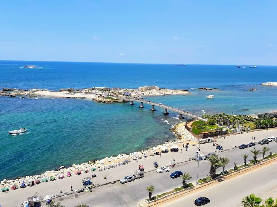 This bridge to AbdulWahab (Bakar) Island is 2 minutes walking from the building