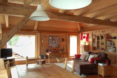Ferme pierre et bois, hauteurs du lac d'Annecy - Leschaux