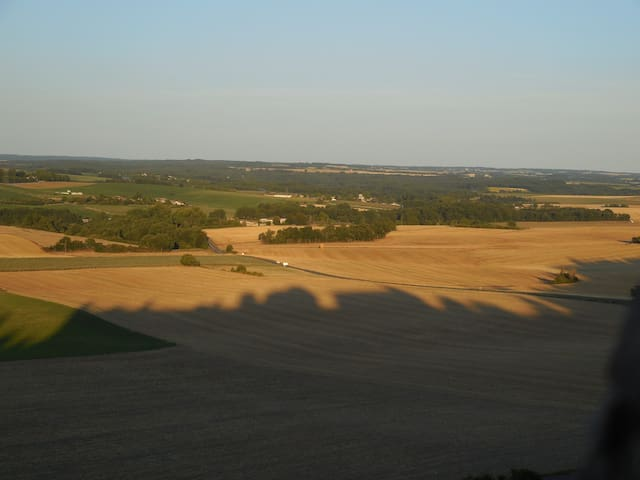 La Madriguera is situated among the trees, to the left of this picture, in the peace and tranquility of the Charentais countryside, just 6 kilometres from the Dordogne border.