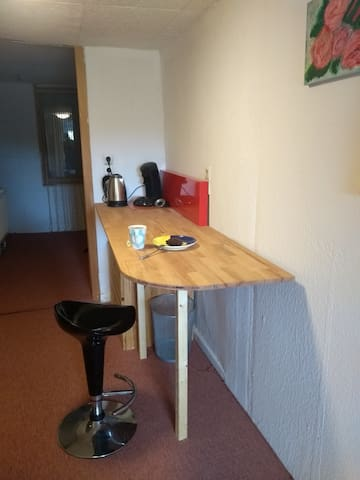 Kleine Ecke für Tee und Caffepausen