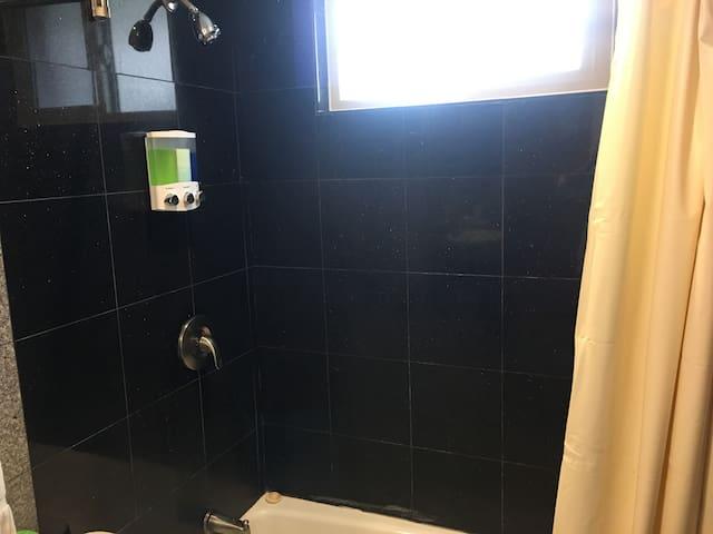 Shampoo, Conditioner, and Body Wash.